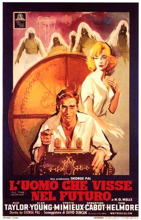 L'uomo che visse del futuro. Splendido film di George Pal che porta al cinema la Macchina del Tempo di H.G.Wells.