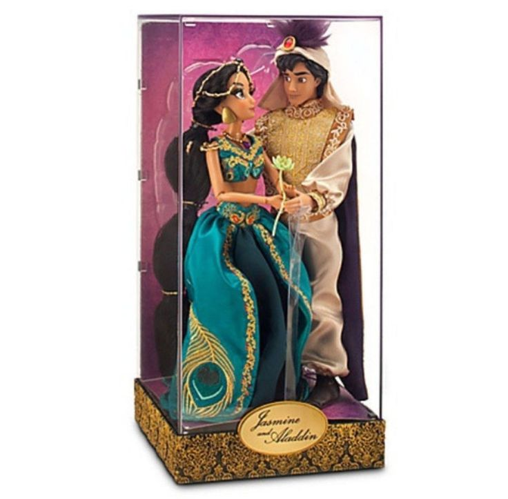 Disney Designer Fairytale Princess Jasmine & Aladdin Limited Edition Doll Set