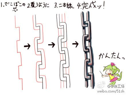 How to draw chain links..i always had trouble with this!