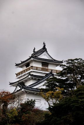 Kitsuki Castle's concrete keep, Japan. Kitsuki Castle is located in Kitsuki, Oita Prefecture, Kyushu.