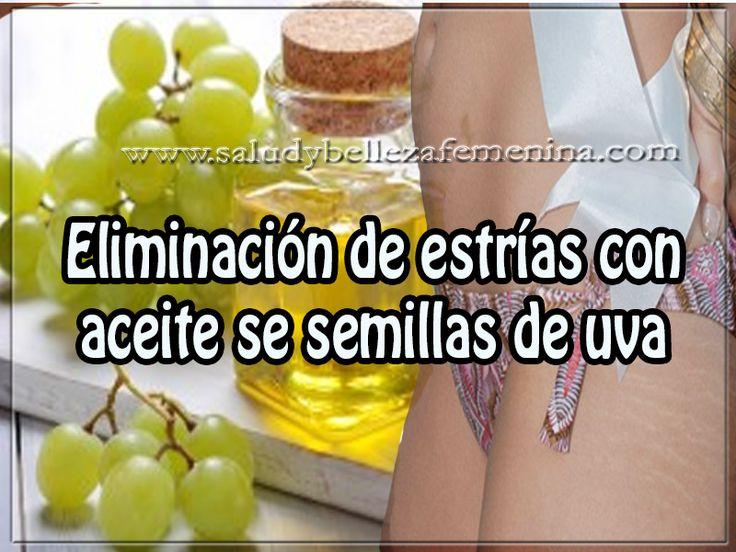 Eliminación de estrías con aceite se semillas de uva