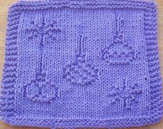 DigKnitty Designs: Christmas Ornaments Knit Dishcloth Pattern