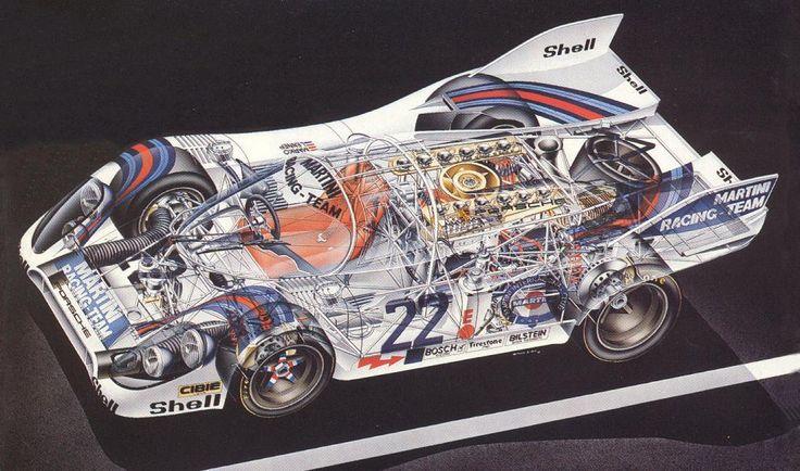 Porsche 917k race car - cutaway