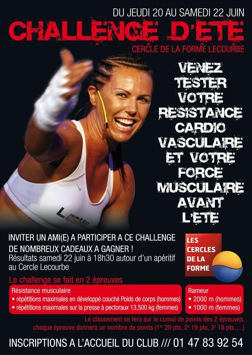 Challenge de l'été au Cercle Lecourbe, challenge sportif inscription entre le 20 et 22 Juin 2013 avec deux épreuves développé et rameurs www.cerclesdelaforme.com #sport #challenge #defi