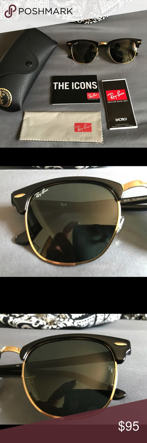 Ray-Ban Clubmaster New | Unused | 49 mm | Bought this at a Navy Exchange Store (pic of Receipt included) | Always loved the Clubmaster but should've went with a 51 mm for my face shape | Ray-Ban Accessories Sunglasses