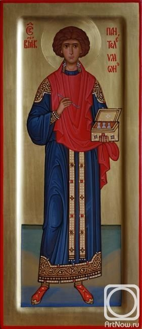 St Panteleimon icon.  Красавин Сергей. Св.Пантелеимон
