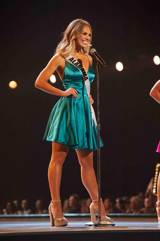 Miss Alabama USA 2018, Hannah Brown, introducing herself during the opening  number at the Preliminary Compet… in 2020 | Hannah brown, Bachelorette  outfits, Miss alabama usa