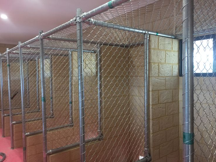 Chainmesh fencing - Cattery installation in Perth.