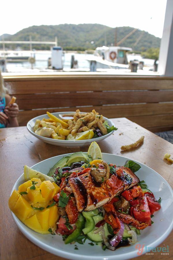 BBQ Atlantic Salmon Salad - Fishermen's Wharf, Woy Woy, Australia