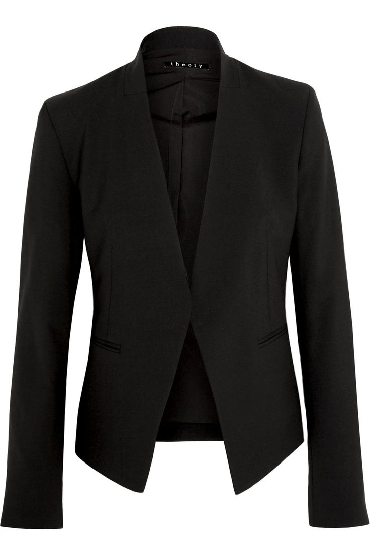 THEORY Lanai stretch-wool crepe blazer. #theory #cloth #blazer