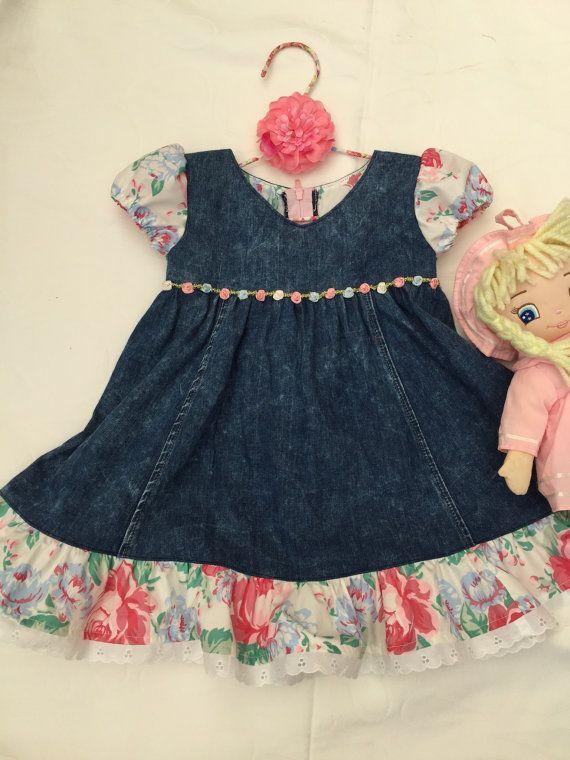 Toddler denim dress girls dress size 2 holiday dress girls