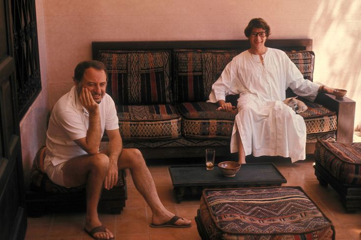 Yves Saint Laurent in Marrakech Picture credit: Guy Marineau