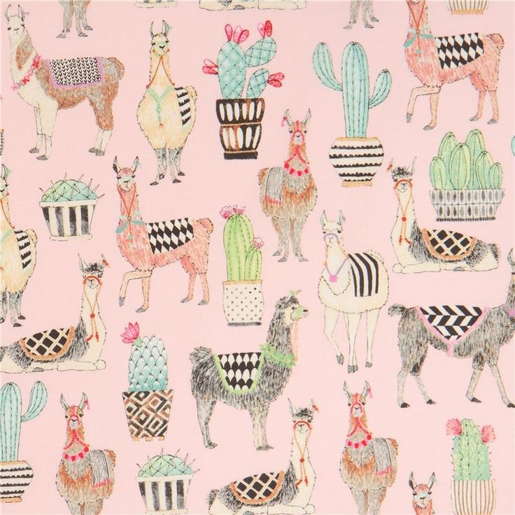 http://www.kawaiifabric.com/en/p12209-light-pink-Michael-Miller-fabric-llama-animal-cactus-Lovely-Llamas.html