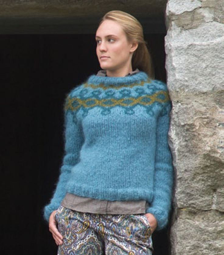 Trinity Pullover in Classic Elite Yarns La Gran - Downloadable PDF