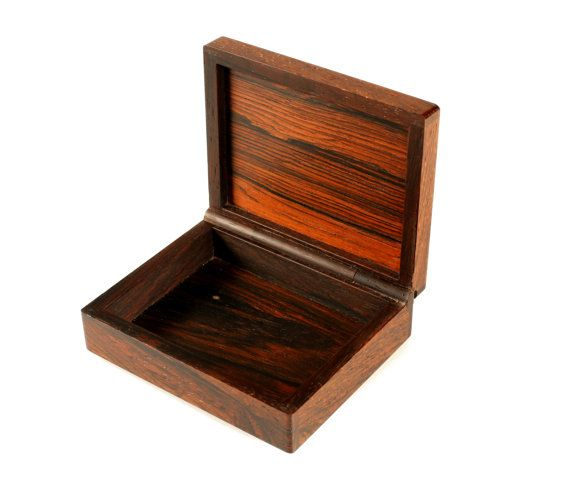 One of a kind Alfred Klitgaard Brazilian Rosewood box with enamel by Danish artist Bodil Eje. Made in Denmark in the 1960s. The box has a