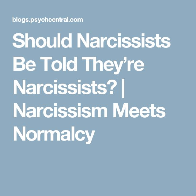 Should Narcissists Be Told They're Narcissists? | Narcissism Meets Normalcy