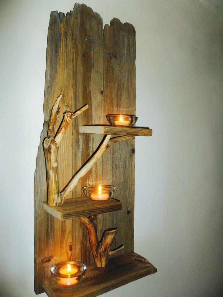 Wall Sconce,Wall Tealight,Tealight Wood Sconce,Wood Sconces,Wood  Lighting,SconceTealight Holder,Rustic Wall Decor,Wall Displays
