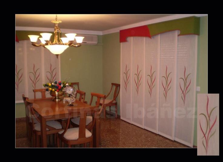 205 best cortinas images on pinterest - Paneles japoneses cortos ...