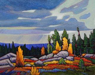 """Windy Pass"" by Canadian Artist Nicholas Bott, Oil on Canvas, 16"" x 20"". #CanadianArt"