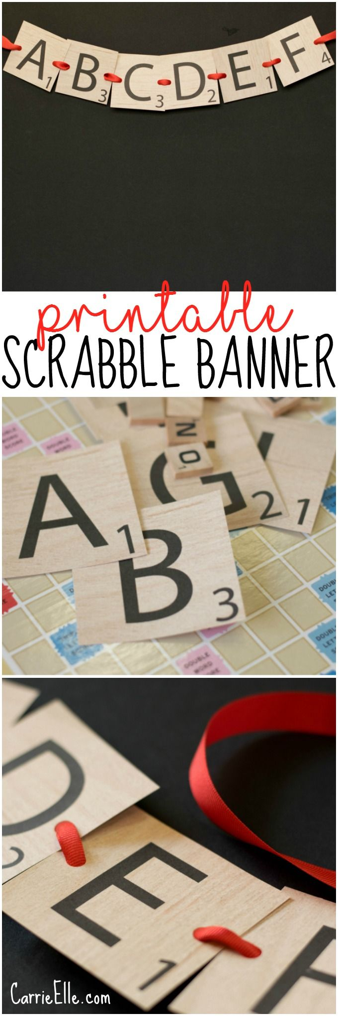 This SCRABBLE Letter Printable Banner is so fun - and you can download it for free!                                                                                                                                                                                 More