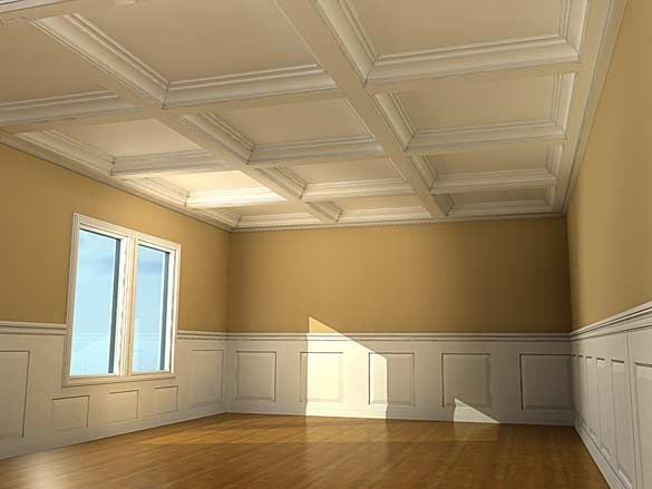 Coffered Ceiling Coffered ceiling smoot panel