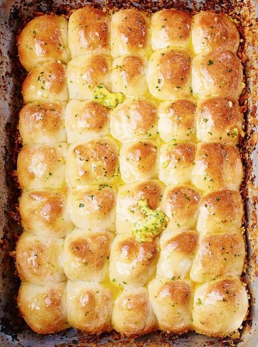 Tear 'n' share garlic bread by Jamie Oliver - perfect for sharing.