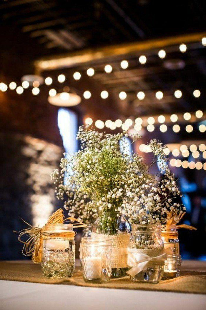 decoration mariage pas cher, comment décorer une table mariage