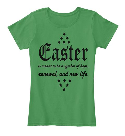 Easter Day Tees Kelly Green  Women's T-Shirt Front