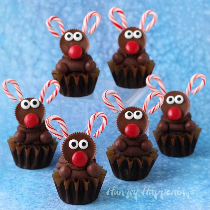 Ultimate #Chocolate Reindeer #Cupcakes #recipe via Hungry Happenings http://www.yummly.com/recipe/Ultimate-Chocolate-Reindeer-Cupcakes-1417094