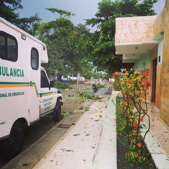 Post vendaval, Santa Ana - Isla de Baru