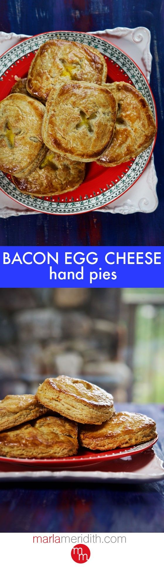Bacon, Egg & Cheese Hand Pies. This easy & delicious recipe is great for breakfast, brunch & lunch boxes! MarlaMeridith.com ( @marlameridith )