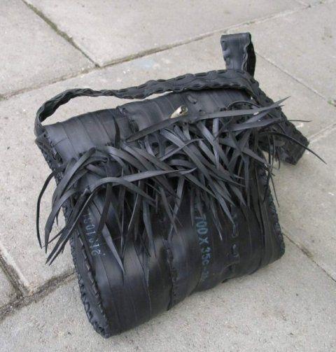 bike tube purse