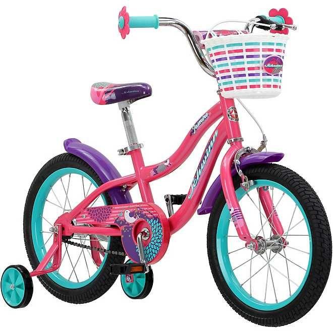 Schwinn Girls 16 In Jasmine Bicycle Academy In 2020 Bike With Training Wheels Schwinn Kids Bike