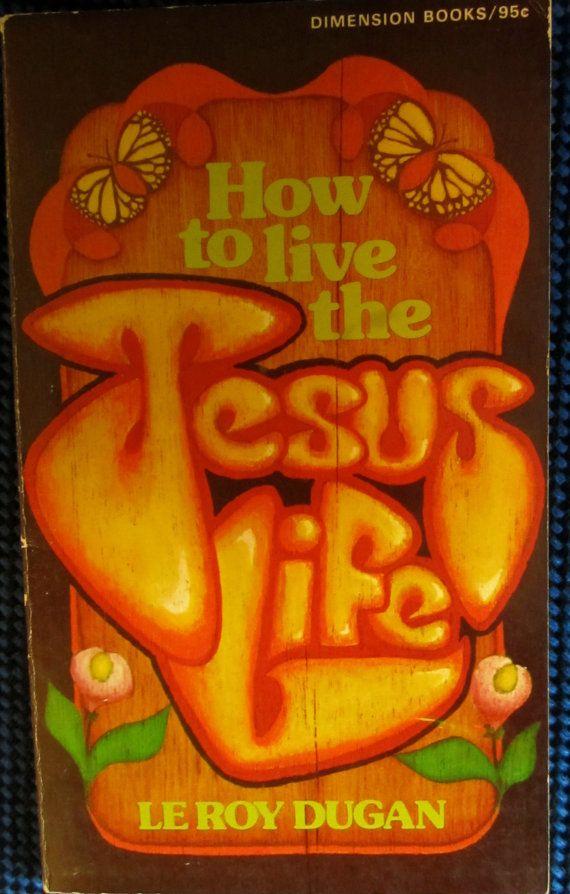 RETRO Jesus Book 60s 70s Flower Power Peace Love by Treehouse58