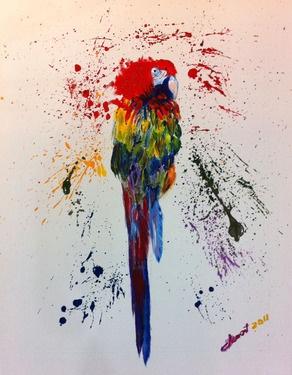 j'aime vraiment ce tableau, je serais prête a l'afficher dans ma propre chambre, j'aime beaucoup les couleurs et la façon donc la peinture est utilisée