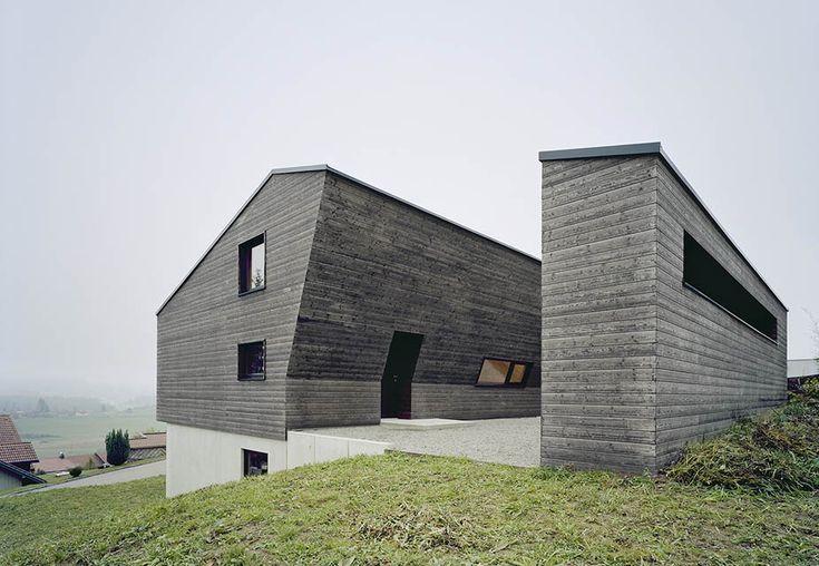 Дом, разрезанный на две части, в Германии