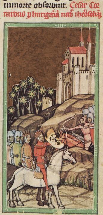 p119 of the Képes Krónika, Hungary, 1360