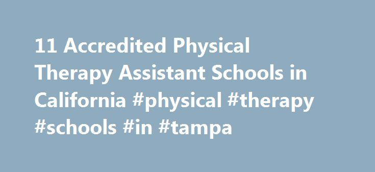 11 Accredited Physical Therapy Assistant Schools in California #physical #therapy #schools #in #tampa http://maryland.remmont.com/11-accredited-physical-therapy-assistant-schools-in-california-physical-therapy-schools-in-tampa/  # Find Your Degree Physical Therapy Assistant Schools In California There are 11 accredited physical therapy assistant schools in California for faculty who teach physical therapy assistant classes to choose from. The graphs, statistics and analysis below outline the…