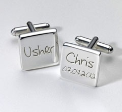 Personalised Usher Cufflinks £19.99 - The Wedding Gift Company