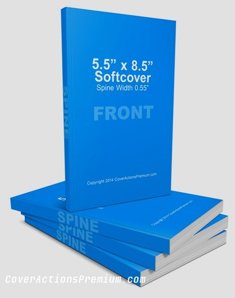 5.5 x 8.5 SoftBack Book Mock Up Actions