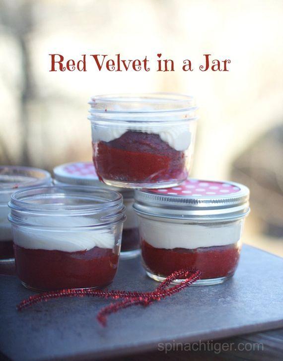 Red Velvet Cake in a Jar | Recipe | Jars, Velvet cake and Red velvet