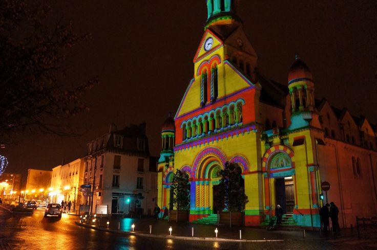 L'Eglise d'Enghien, une soirée de septembre 2012