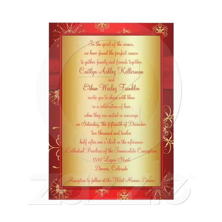 what should an evening wedding invite say%0A Great Christmas Wedding Invitation