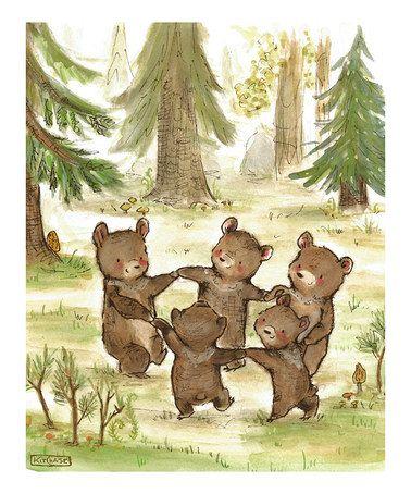 Another great find on #zulily! Bear Dance Print #zulilyfinds