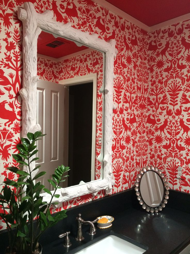 Otomi (Red), Roll. Our Luxe, Modern Wallpapers ...