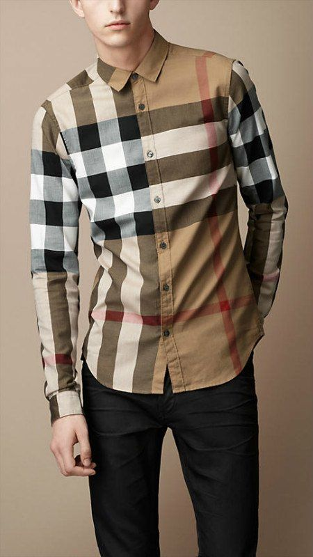Burberry men shirts-B19584