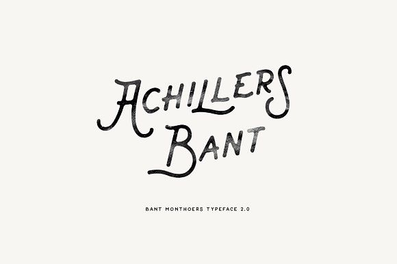 Bant Achillers Typeface by Swistblnk Design Std. on @creativemarket