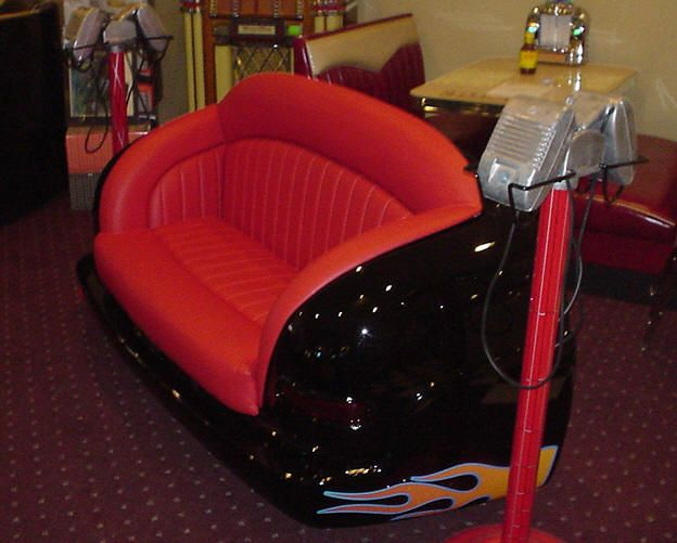 Too cool!  Car Seat SofaGameroom 1950S, 1950S Automobiles, 50S Parties