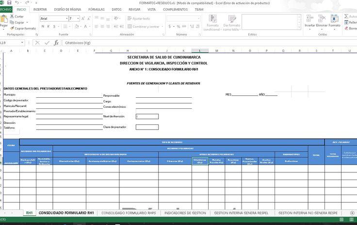 SGSST | Formatos para control de Residuos.xls