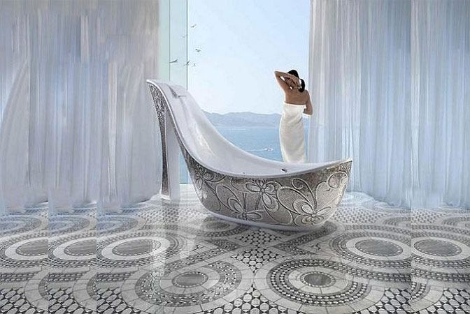 interesting bathtub